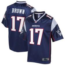 Herren New England Patriots Antonio Brown NFL Pro Line Navy Big & Tall spieler Trikot