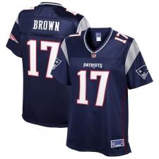Damen New England Patriots Antonio Brown NFL Pro Line Navy Spieler Trikot