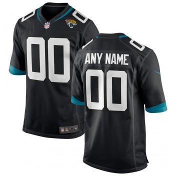 Herren Jacksonville Jaguars Nike Schwarz Custom Team Color Spiel Trikot