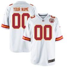 Nike Herren Kansas City Chiefs Customized Spiel Weißes Trikot