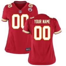 Frauen Kansas City Chiefs Nike Rot Custom Spiel Trikot