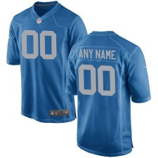 Herren Detroit Lions Nike Royal Custom Alternate Spiel Trikot