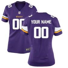 Minnesota Vikings Nike Damen Custom Spiel Trikot - lila