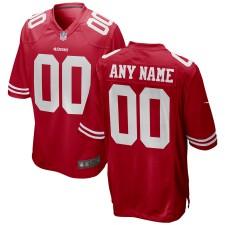 San Francisco 49ers Nike Custom Spiel Trikot - Rot