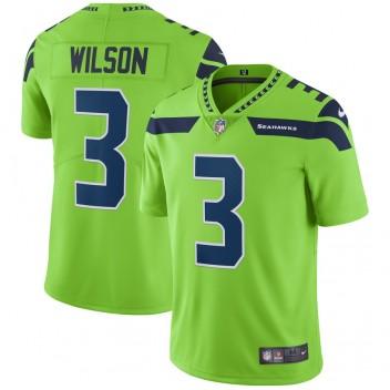 Russell Wilson Seattle Seahawks Vapour Unberührbarer Farbrausch-Spieler Trikot - Neongrün