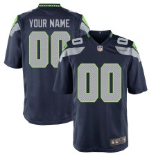 Seattle Seahawks Nike Custom Spiel Trikot - College Navy