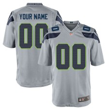 Seattle Seahawks Nike Custom alternate Spiel Trikot - Grau