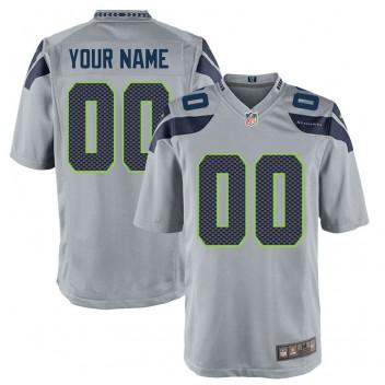 Seattle Seahawks Nike Custom alternate Spiel Trikot - Grau