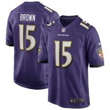 Marquise Brown Baltimore Ravens Nike Spiel Trikot - Lila