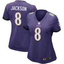 Lamar Jackson Baltimore Ravens Nike Frauen-Spiel Trikot - Lila