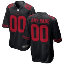 San Francisco 49ers Nike Alternate Custom Spiel Trikot - Schwarz