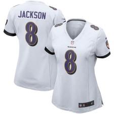 Nike Lamar Jackson Baltimore Ravens Frauen Weiß Spiel Trikot