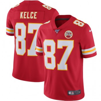 Nike Travis Kelce Kansas City Chiefs Rotes NFL 100 Vapor Limited-Trikot