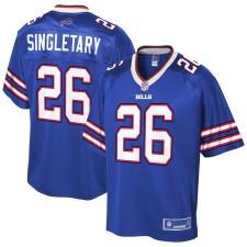 Das Buffalo Bills Devin Singletary NFL Pro Line Royal Team Farbspielertrikot für Herren