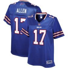 Josh Allen NFL Pro Line Royal Player Trikot für Damen