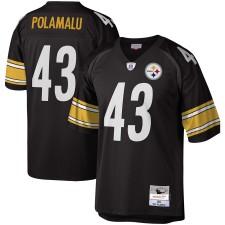 Troy Polamalu Pittsburgh Steelers Nachbau Trikot Mitchell & Ness Legacy - Schwarz