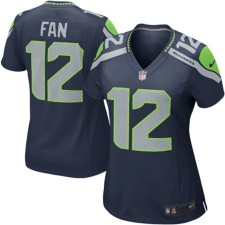 Seattle Seahawks 12s Nike Frauen Spiel Trikot - College Navy
