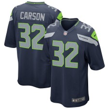 Chris Carson Seattle Seahawks Nike Spiel Trikot - Navy