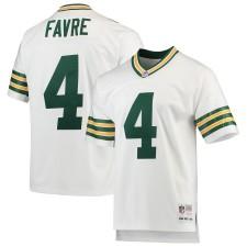 Brett Favre Green Bay Packers Mitchell & Ness Retired Spieler Legacy Replikat Trikot - Weiß