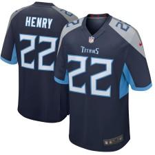 Derrick Henry Tennessee Titans Nike Neu 2018 Spiel Trikot - Navy