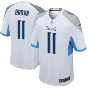 Herren Tennessee Titans A.J. Brown Weiß Spiel Trikot von Nike
