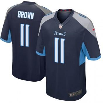 Herren Tennessee Titans A.J. Brown Spiel Navy Trikot von Nike