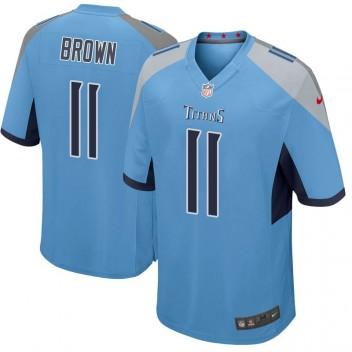 Herren Tennessee Titans A.J. Brown Light Blau Spiel Trikot von Nike