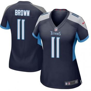 Damen Tennessee Titans A.J. Brown Spiel Navy Trikot von Nike
