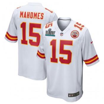 Patrick Mahomes Kansas City Chiefs Nike Super Bowl LIV Gebunden Spiel Trikot - Weiß