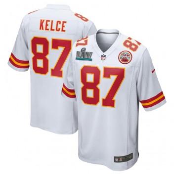 Travis Kelce Kansas City Chiefs Nike Super Bowl LIV Gebunden Spiel Trikot - Weiß