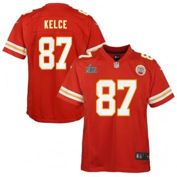 Travis Kelce Kansas City Chiefs Nike Kinder Super Bowl LIV Gebunden Spiel Trikot - Rot