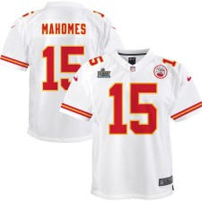 Patrick Mahomes Kansas City Chiefs Nike Youth Super Bowl LIV Gebunden Spiel Trikot - Weiß