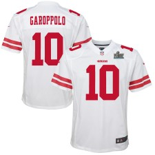 Jimmy Garoppolo San Francisco 49ers Nike Youth Super Bowl LIV Gebunden Spiel Trikot - Weiß
