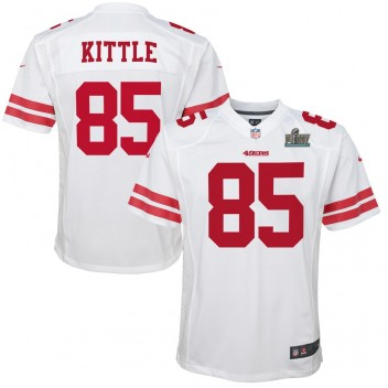 George Kittle San Francisco 49ers Nike Youth Super Bowl LIV Gebunden Spiel Trikot - weiß