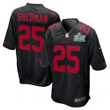 Richard Sherman San Francisco 49ers Nike Super Bowl LIV Gebunden Spiel Event Trikot - Schwarz