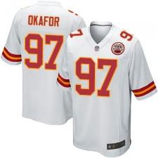 Kansas City Chiefs Weiß Alex Okafor Herren Trikot Road Spiel