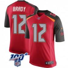 Tom Brady Tampa Bay Buccaneers Jugend Begrenzte 100. Vapor Nike Jersey - Red