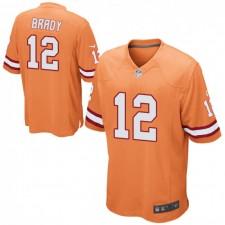 Tom Brady Tampa Bay Buccaneers Männer Spiel Alternate Nike Jersey - Orange