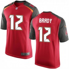 Tom Brady Tampa Bay Buccaneers Männer Spiel Team Farbe Nike Jersey - Red