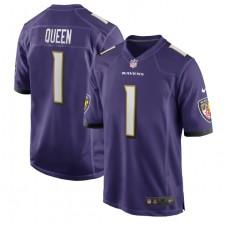 Patrick Queen Baltimore Ravens Nike 2020 NFL Draft erste Runde Pick Spiel Trikot - lila