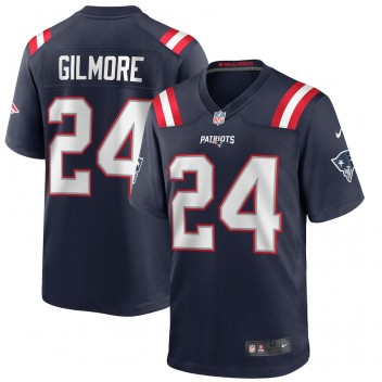 Stephon Gilmore New England Patriots Nike Spiel Trikot - Marine