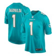 Tua Tagovailoa Miami Dolphins Nike 2020 NFL Draft Erste Runde Pick Spiel Trikot - Aqua
