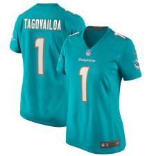 Tua Tagovailoa Miami Dolphins Nike Damen 2020 NFL Draft Erste Runde Pick Spiel Trikot - Aqua