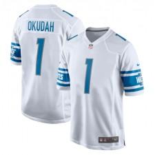 Jeff Okudah Detroit Lions Nike 2020 NFL Draft First Redondo Elegir Juego Trikot - Blanco