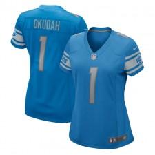 Jeff Okudah Detroit Lions Nike Femenino 2020 NFL Draft First Round Pick Juego Trikot - Azul