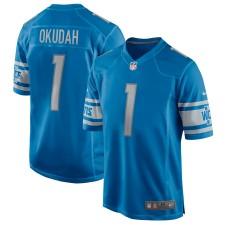 Jeff Okudah Detroit Lions Nike 2020 NFL Draft First Round Pick Juego Trikot - Azul