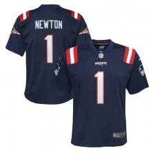 Cam Newton New England Patriots Nike Jugend Spiel Trikot - Marine