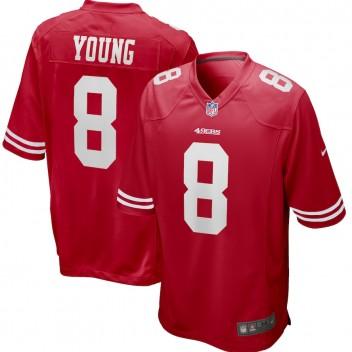 Steve Young San Francisco 49ers Nike Spiel zurückgezogen Spieler Trikot - Scarlet